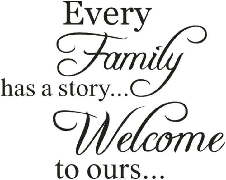 """Hot Sale!!! Wall Stickers,Jushye Removable Art Home Room Decor Wall Decals """"Every Family Has A Story Welcome To ours """" (B)"""