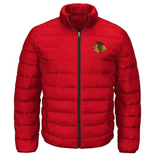 G-III Sports NHL Chicago Blackhawks Men's Skybox Full Zip Packable Jacket, Red, Large