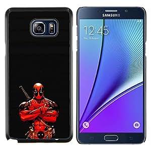 YiPhone /// Prima de resorte delgada de la cubierta del caso de Shell Armor - Ninja Warrior héroe - Samsung Galaxy Note 5 5th N9200