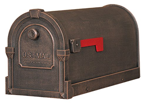Special Lite Products SCS-1014-CP Savannah Curbside Mailbox, Copper (Mailbox Copper)