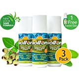 Premiere's Pain Spray Roll-On 3 Pack (Includes 1 Free 1 oz. Travel Size Spray Bottle) Pain Relief Roll-On, Ligament Pain Relief, Planters Fasciitis Relief, Neck & Shoulder Pain Relief