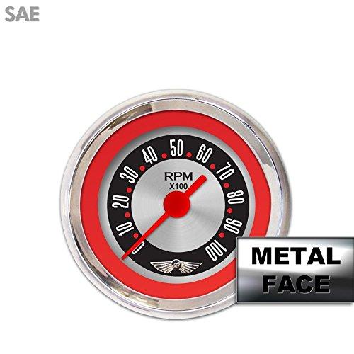 GAR15ZEAIABAE Aurora Instruments American Retro Rodder Red Assembled Tachometer Gauge