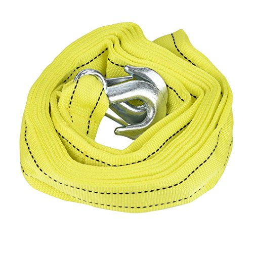 Car Trailer Towing Strap Rope, Boyiya Heavy Duty Auto Emergency Helper U-Shape Hooks