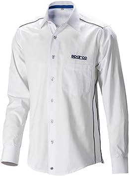 Sparco SP011773BI1S Camisa Manga Larga, Blanco, S: Amazon.es: Coche y moto