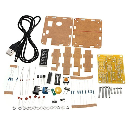 HUABAN 1Hz-50MHz Crystal Oscillator Tester Frequency Counter Tester Meter Cymometer Measurement Tester Module LED DIY Kits with Housing (in Parts)