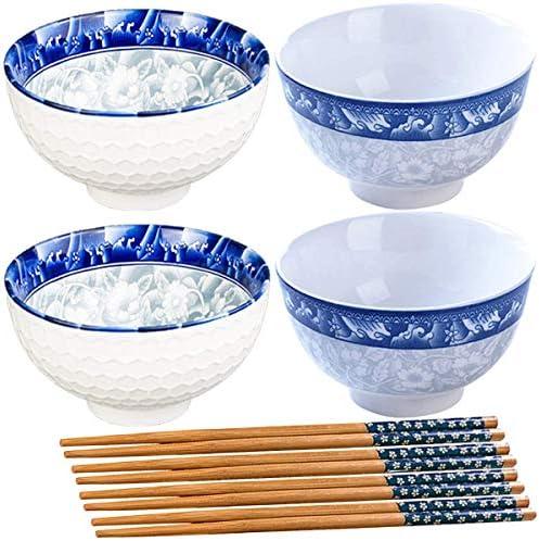 Fadaar Juego de 4 Cuencos de cerámica con