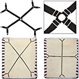 1 set Criss-Cross Adjustable Bed Fitted Sheet Straps Suspenders Gripper Holder Fastener