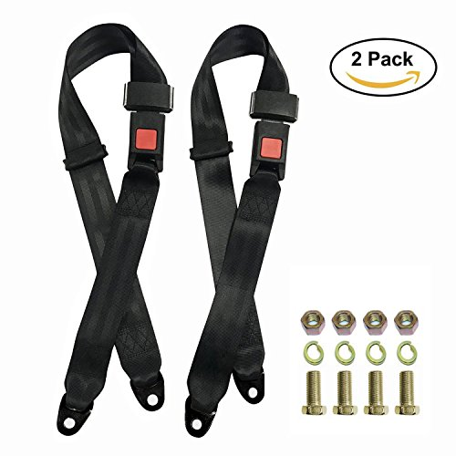 - 2 Pack Seat Safety Belt, Lap Durable Polyester Fabric Safety Belts Buckle Car Vehicle Truck Seat Belts,Suitable for UTV, Buggies,Club Golf Cart,Go Kart, Van, VR, Truck, Cars and Veh, 2 Point Adjustabl
