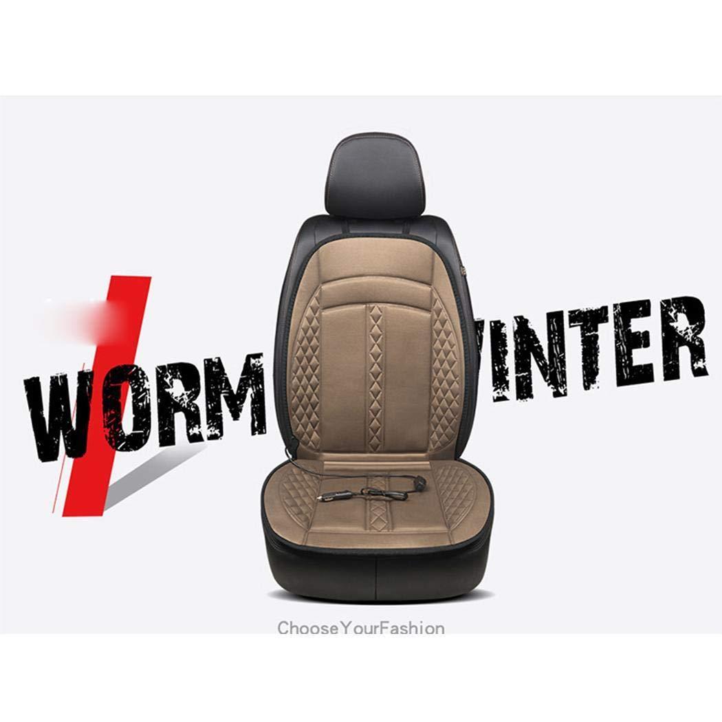 vobome Cuscino riscaldato per seggiolino Auto riscaldato con Rivestimento Antiscivolo per Riscaldamento a 12V Coprisedili Singoli
