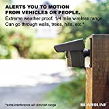 1/4 Mile Long Range Wireless Driveway Alarm- Top Rated Outdoor Weatherproof Motion Sensor & Detector- Best DIY Security Alert System- Monitor & Protect Outside Property, Yard, Garage, Gate, Pool.