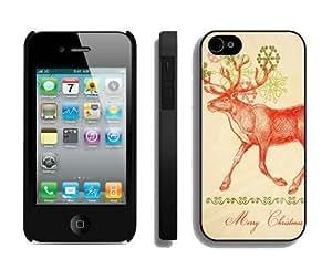 Individualization Christmas Deer iPhone 4 4S Case 6 Black