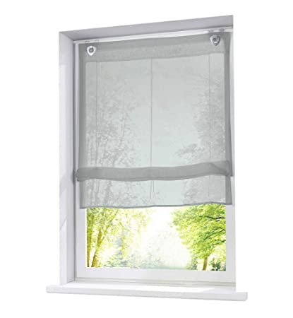 Amazon.com: 86 York Kitchen Roman Shades Adjustable Window ...