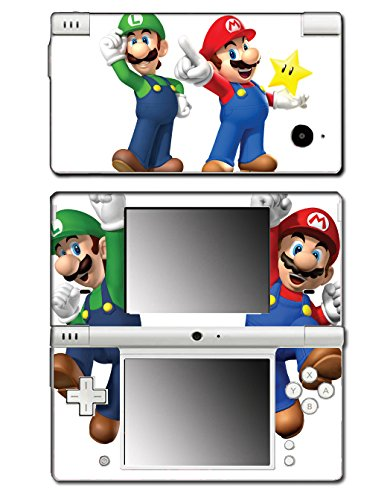 New Super Mario Bros 3D Land World 2 Luigi Star Video Game Vinyl Decal Skin Sticker Cover for Nintendo DSi System (Playstation 3 Super Mario)