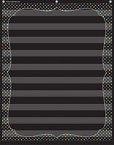 Teacher Created Resources Chalkboard Brights 10 Pocket Chart (20746)