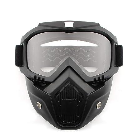 Gafas de Seguridad, máscara para la Cara, Resistente al Viento, a Prueba de Polvo, protección UV, máscara de Gafas para Bicicleta, Motocicleta, táctica, ...