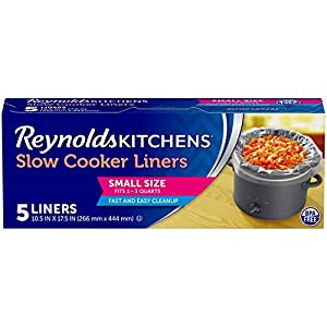 Reynolds Kitchens Premium Small Slow Cooker Liners, 10.5x17.5 Inch, 5 Count 5