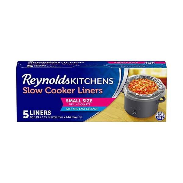 Reynolds Kitchens Premium Small Slow Cooker Liners, 10.5x17.5 Inch, 5 Count 1