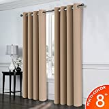 Balichun Blackout Curtains Thermal Insulated 2 Panels has 16 antique bronze grommets Blackout ...