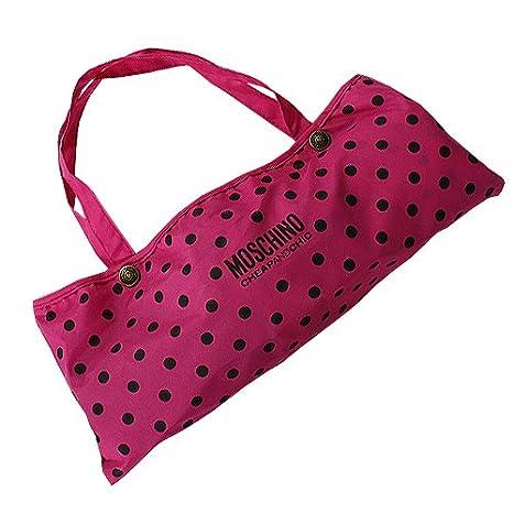 Moschino - Paraguas, diseño de lunares, color rosa: Amazon.es: Ropa y accesorios