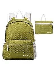 MOSSLIAN Ultralight Folding Waterproof Backpack,Handy Foldable Bag Lightweight Travelling Outdoor Backpack Dayback 16L