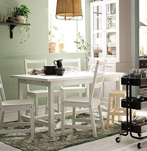 MSAMALL NORDVIKEN Chaise de salle à manger Blanc 44 x 56 x 97 cm Durable et facile d'entretien