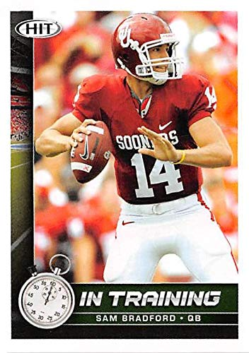 Sam Bradford football card (University Oklahoma Sooners NCAA) 2010 Sage Hit #70 In Training Rookie ()