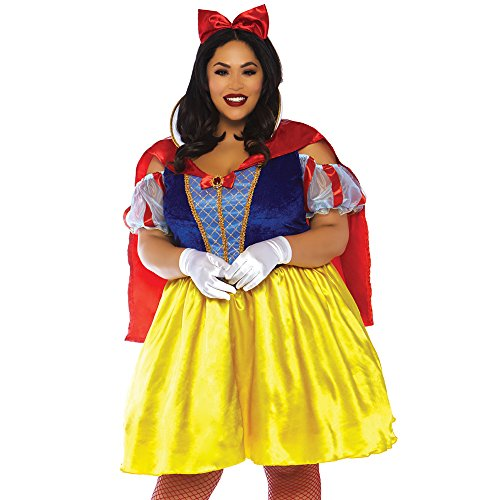 Leg Avenue Womens Plus Fairytale Snow White Costume, Multi, 1X-2X ()