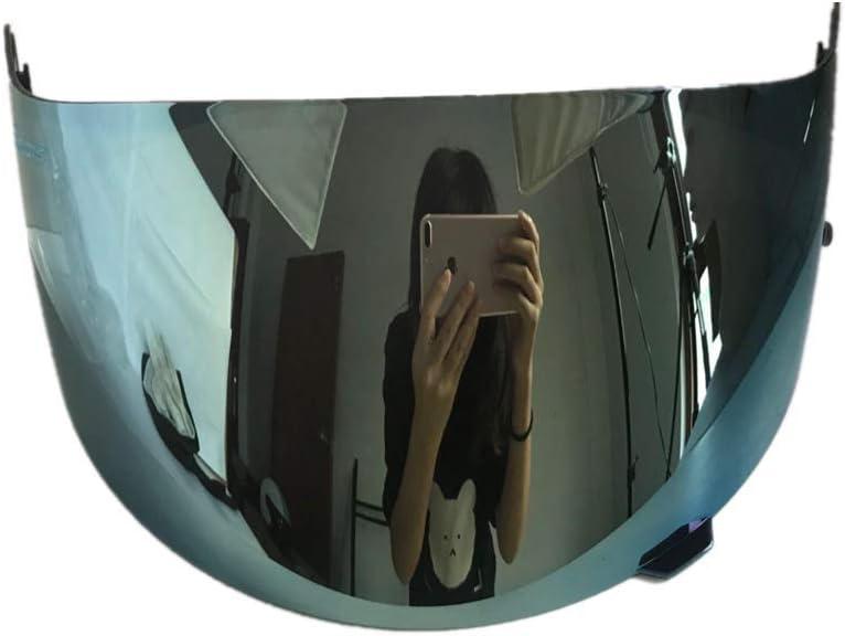 Viviance Casco De Motocicleta Visera Escudo Visor para Hjc Cl-16 Cl-17 Cs-15 CS-R1 CS-R2 Cs-15 Fg-15 TR-1 (Azul Brillante)