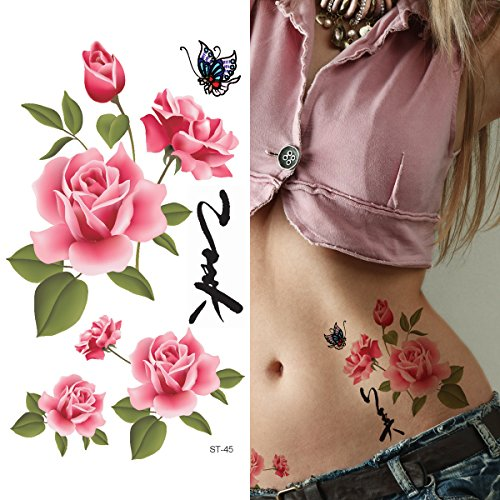 Supperb Temporary Tattoos Chinese Rose product image