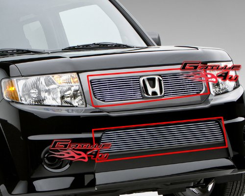 APS Compatible with 09-11 2011 Honda Element SC Billet Grille Combo N19-A26676H