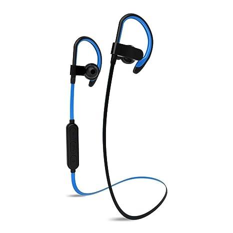 melysEU Auricular Bluetooth Inalámbrico para Deportes 4.1 Auricular Estéreo de Doble Oído
