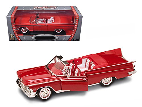 1959 Buick Electra 225 Convertible Red Diecast Model Car 1/18 by Road Signature 92598r