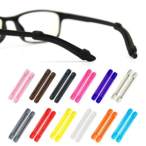 Alamic Eyewear Retainer Eyeglass Temple Tip for Kids and Adults Silicone Anti Slip Holder for Glasses Piece Ear Hook - 12 ()