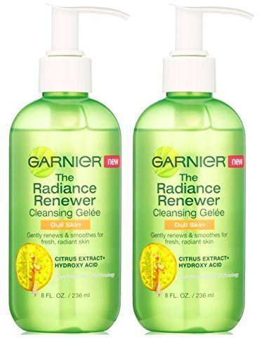 (Garnier the Radiance Renewer Cleansing Gelee for Dull Skin, 8 Fluid Ounce Pack of 2)