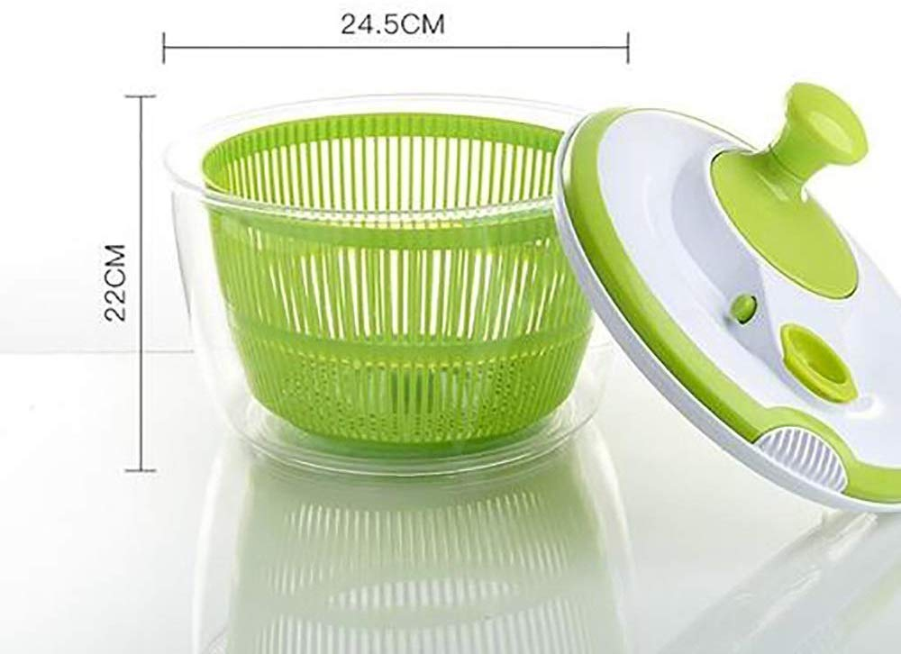 Aich Manual Vegetable and Fruit Sinks Creative Kitchen Large Household Rotating Double-Layered Vegetable Drain Basket Washing Vegetables Dehydrated by Aich
