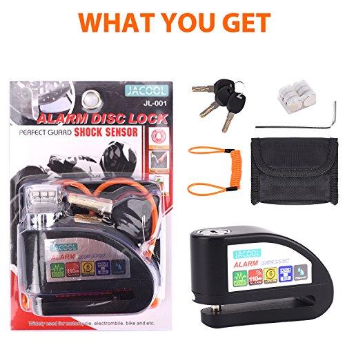 Disc Brake Lock, JACOOL Anti-theft Motorcycle Motorbike Alarm Disc