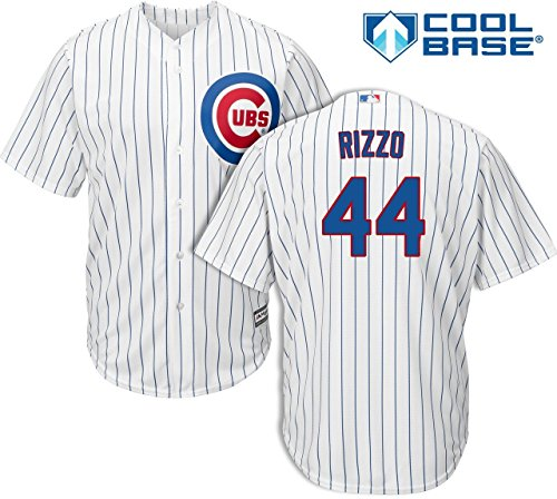 Replica Player Stitched Home Jersey - Majestic Anthony Rizzo Chicago Cubs MLB Kids White Home Cool Base Replica Jersey (Size 5/6)