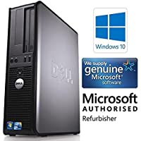 Dell Optiplex 780 Desktop Computer Business PC (Intel Core 2 Duo, 3.0GHz, 4GB Ram, 160GB HDD, WIFI) Win 10 Professional (Certified Refurbished)