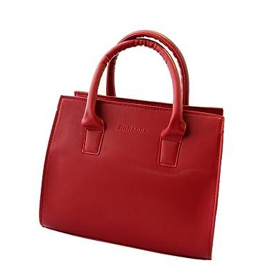 Amazon.com  Women Shoulder Bags Handbag Tote Purse Leather Messenger Hobo Bag  handbags new clutches ladies purse women crossbody Bags Color Red  Shoes b98e182d285d9