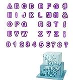 40pcs DIY Letter Number Cake Mould Fondant Sugarcraft Cookie Plunger Cutter Mold Decorating