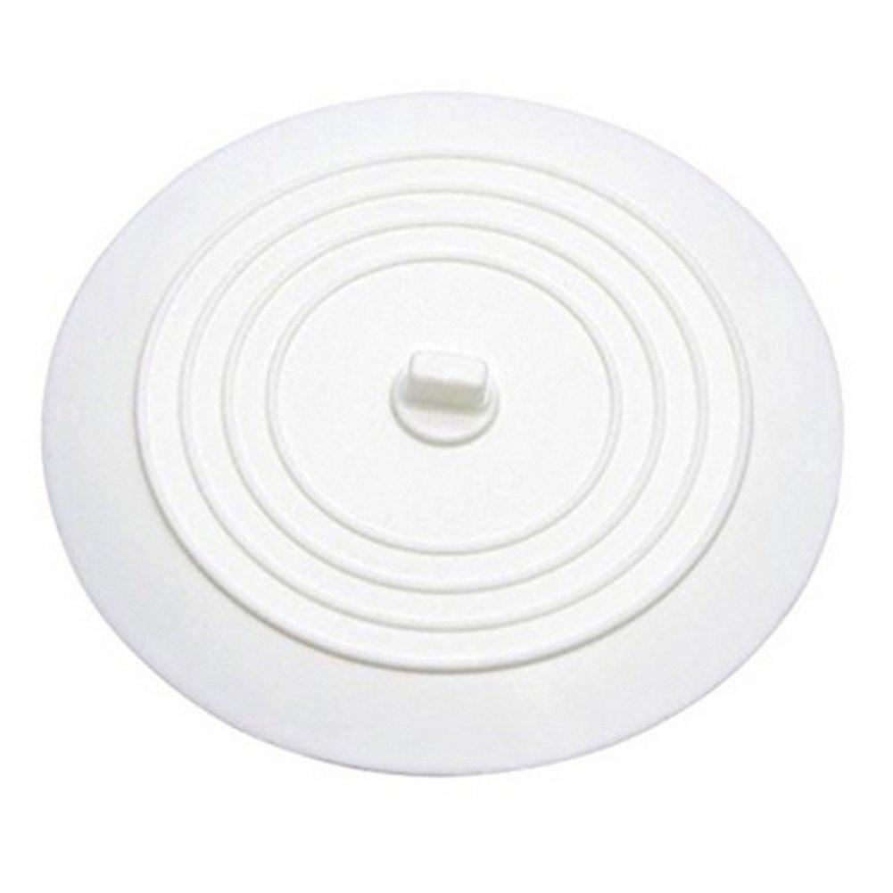 aoory 15 cm Bouchon de vidange en Silicone pour Lavabo de Cuisine en Silicone Blanc