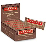 Larabar Gluten Free Bar, Chocolate Chip Brownie, 1.6 oz Bars (16 Count)