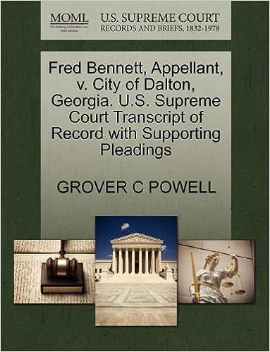 Fred Bennett, Appellant, v  City of Dalton, Georgia  U S