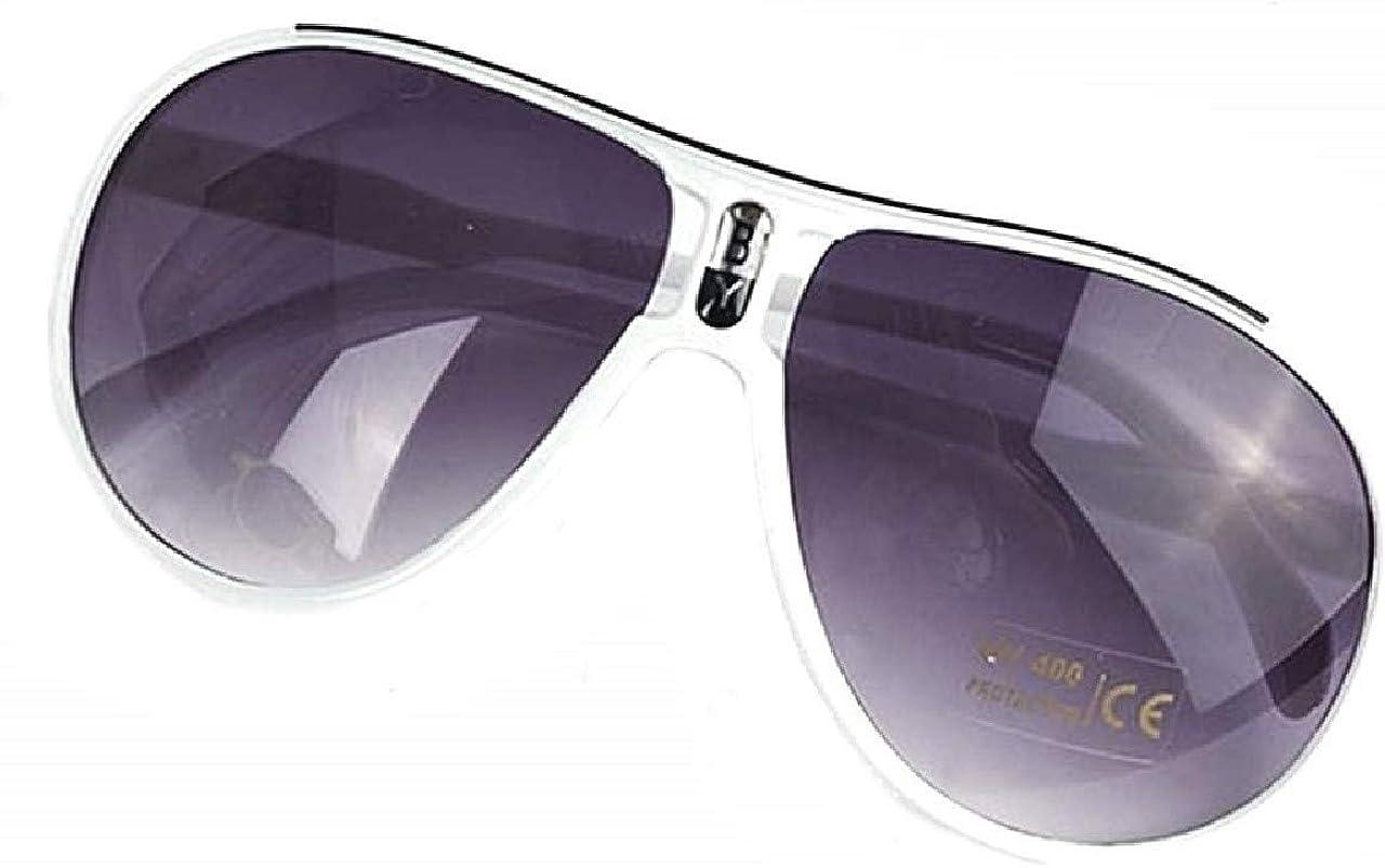 EVRYLON Gafas de sol para ni/ños 4 6 8 10 a/ños gota aviador lentes marco de pvc uv 400 idea de regalo de navidad y cumplea/ños