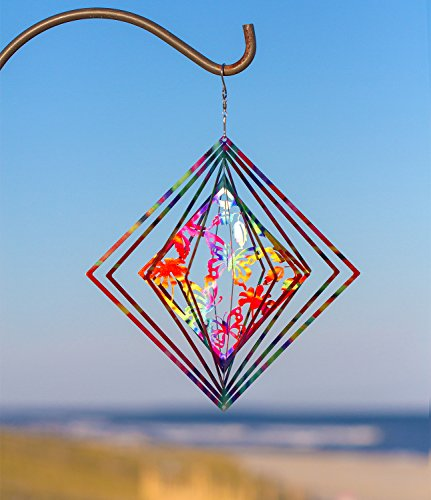 Kinetic 3D Butterfly Metal Garden Wind Spinner