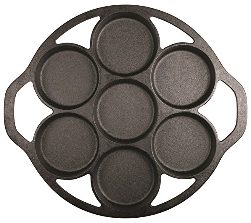 Lodge L7B3 Cast Iron Drop Biscuit Pan, Pre-Seasoned