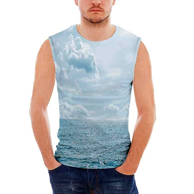 ce06910b40850 Amazon.com  Clouds Mens Comfort Cotton Tank Top