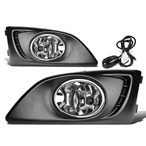 (For Chevy Aveo/Sonic T300 Pair of Bumper Driving Fog Lights w/Bezel & Switch (Clear Lens))