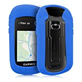kwmobile Case for Garmin eTrex 10/20/30/201x/209x/309x - GPS handset navigation system silicone protective case - outdoor navigation device case cover blue