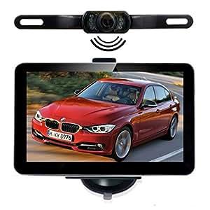 """NavLine GPS Navegador para Coche 7"""" con Cámara (Bluetooth, Actualización Gratis de Mapa Europeo, 800*480 Pixeles, IGO8)"""